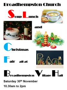 Broadhempston Soup and Christmas 2019