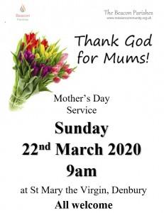 220322 Mother Day 9am Denbury Poster