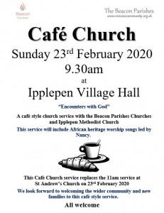 Cafe Church Poster 3 23rd Feb 2020