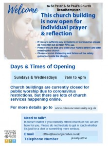 Broadhempston Open Private Prayer