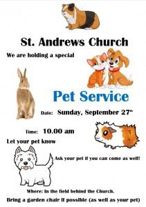 2020 Ipplepen Pet Service Poster